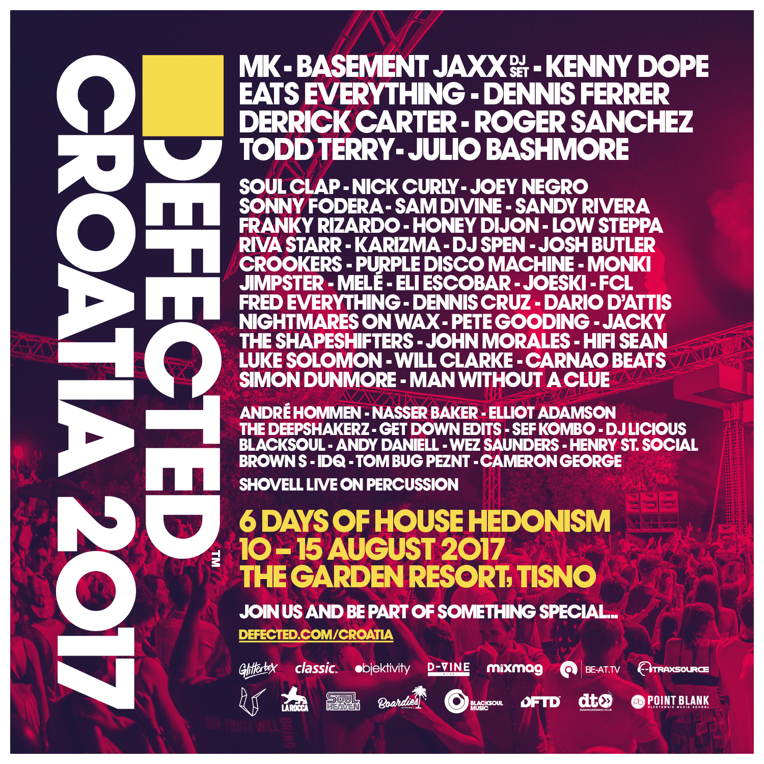 Defected Croatia 2017 Festival Poster