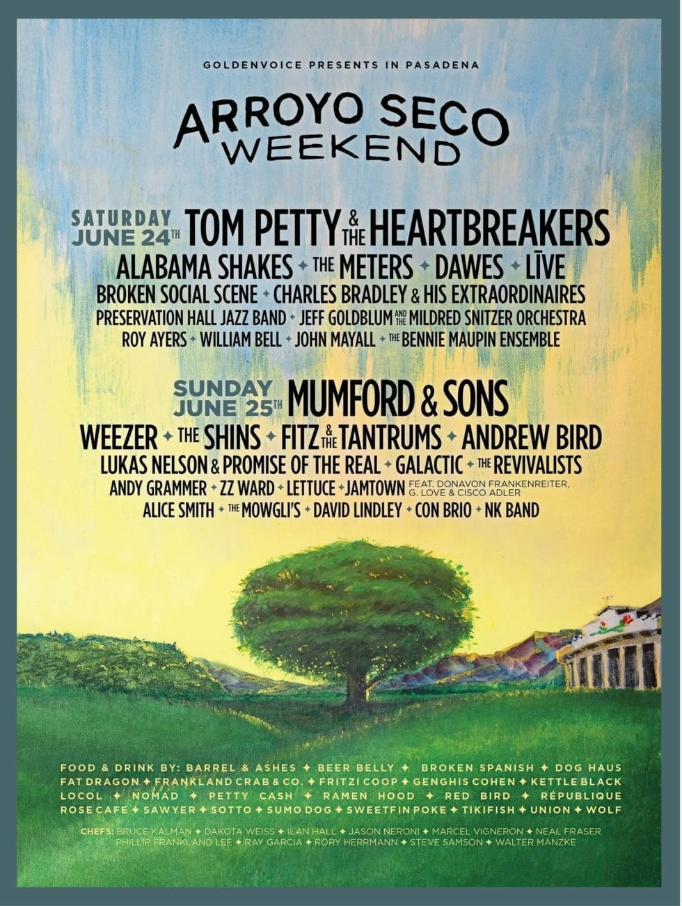Arroyo Seco Weekend 2017 Festival Poster