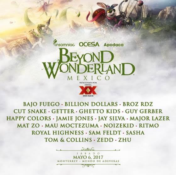 Beyond Wonderland Mexico 2017 Lineup Poster