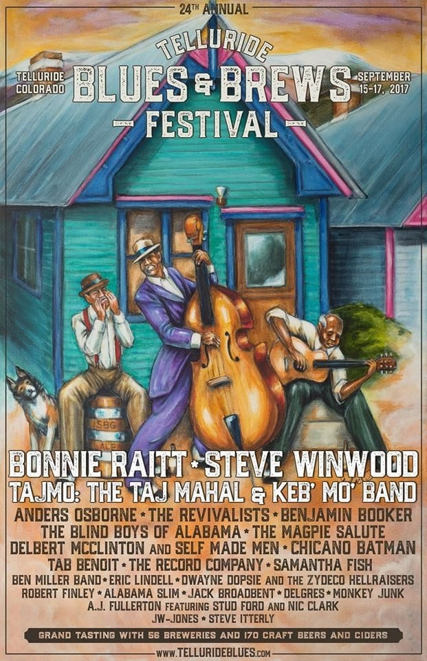 Telluride Blues and Brews 2017 Festival Poster