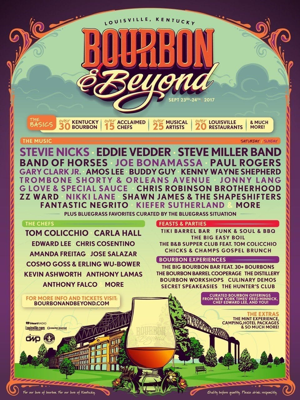 Bourbon and Beyond 2017 Lineup Poster