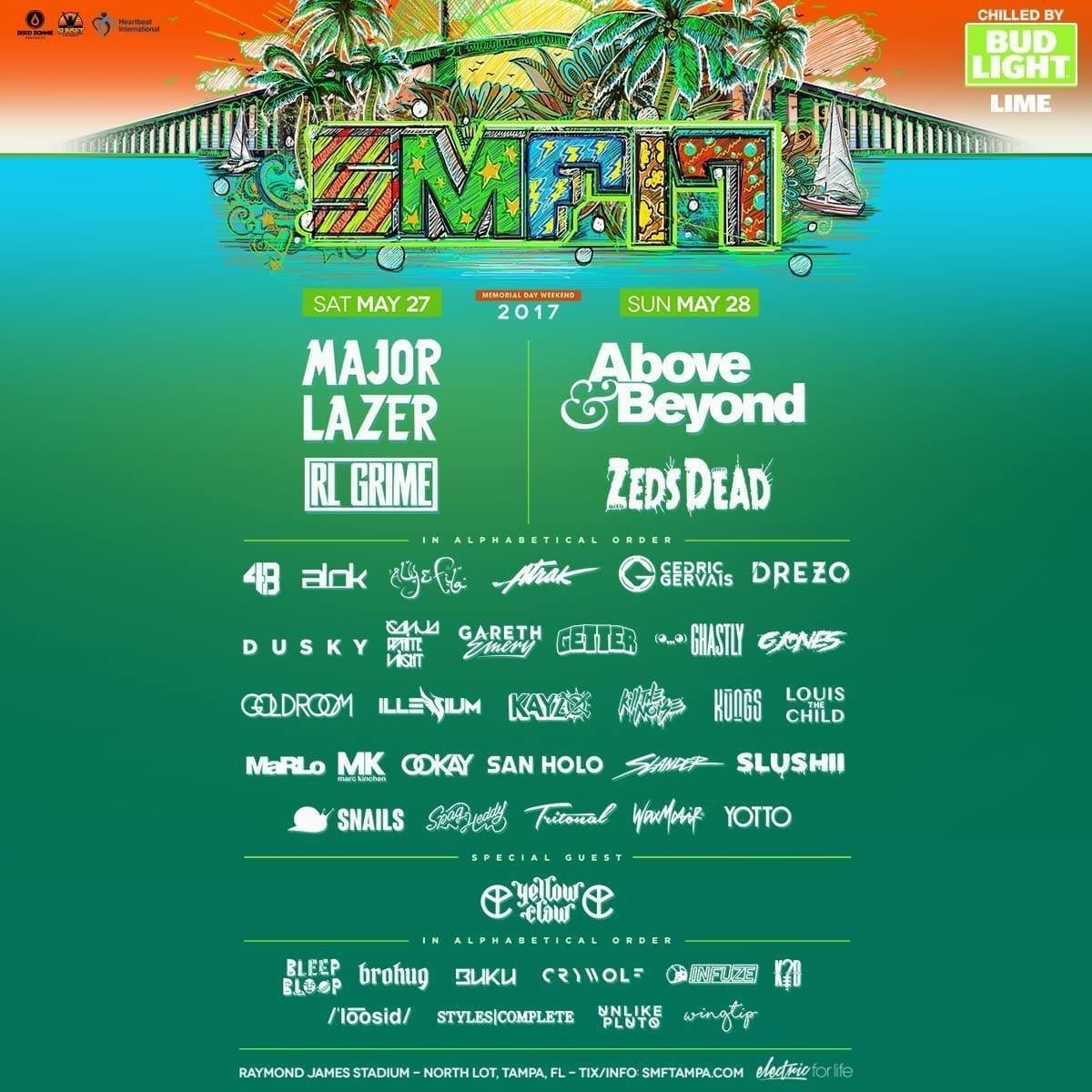 Sunset Music Festival 2017 Lineup Poster Update