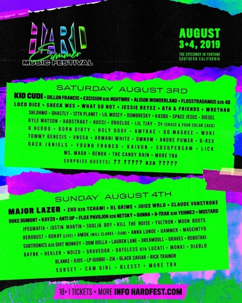 85+ Best Music Festival Lineup Posters for August [2019]   Music